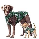 Phyxin Dog Jacket Dog Winter Coat Warm Boy Dog Clothes for Large Dogs Plaid Dog Jacket for Medium Dog Clothes Medium Fleece Jacket for Large Dogs Dog Clothing Winter Jacket for Small Dogs Green 2XL