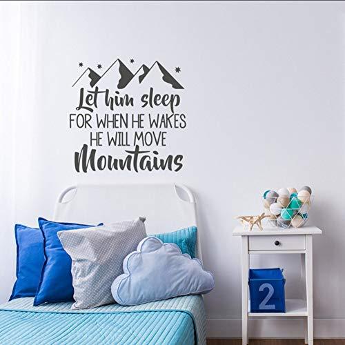 Ponana Nursery Wall Decal Sayings Bébé Garçon Room Decor Pvc Mur Art Autocollant Pour Enfants Chambres Home Decoration Intérieur Chambre Murale 58X57Cm