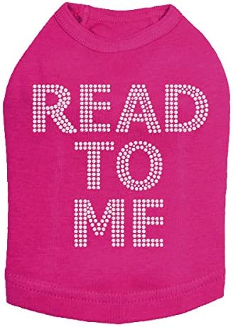 Read to Me Therapy Shirt 2XL Bombing free shipping Dog Fuchsia Save money