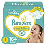 Diapers Newborn/Size 1 (8-14 lb), 164 Count - Pampers Swaddlers Disposable Baby Diapers, E...