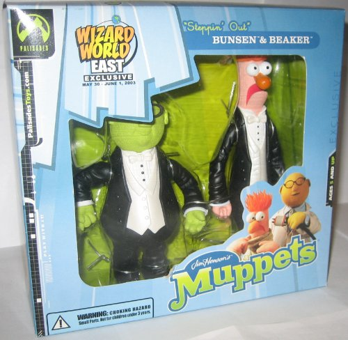 The Muppets Show Wizard World East Coast Convention Exclusive 'Steppin Out' Bunsen & Beaker Action Figure