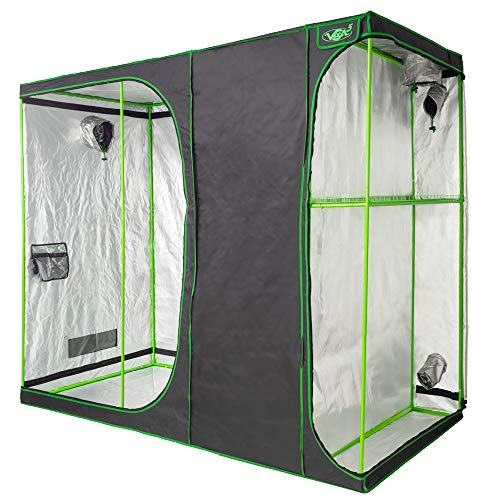 VITA5 Grow Tent 2-in-1 | Growing Tent for Homegrowing | Lightproof and Tearproof Canvas| Waterproof Indoor Grow Tent | (240x120x200cm / 94'x47'x79' inch)