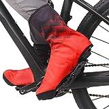 Ciclismo Cubrebotas,Cubre Zapatos Térmico Impermeable A Prueba de Viento,Cubre Calzado Ciclismo,MTB Cubrezapatillas Bicicleta Invierno Cubrezapatillas Unisex Adulto(Color:Rojo,Size:XXL)