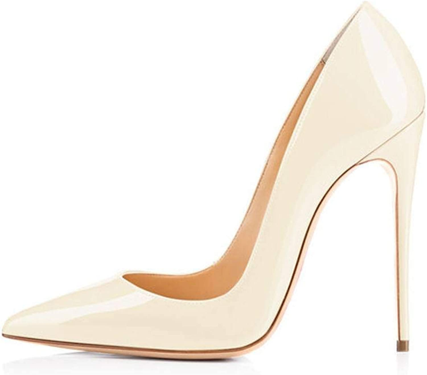 Lin-House Women shoes Thin High Heel Stilettos Pointed Toe Patent Leather shoes,H161213,11