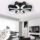 Miwooho - Lámpara de techo LED, 36 W, 48 W, 64 W, 78 W, 110 W, regulable, para salón, dormitorio, pared, salón [clase energética A + +]