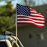 12 U.S. American Car Window Clip On Flag PERFECT for CAR AUTO SALES DEALERSHIPS - Sold by the dozen - Quantity discounts