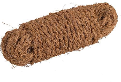 Connex Kokos-Seil 15 m - Zum Binden, Dekorieren & Verpacken - Pflanzenschonendes Bindematerial - Reißfest & witterungsbeständig - Aus natürlichen Kokos-Fasern / Paketschnur / Gartenkordel / FLOR78720