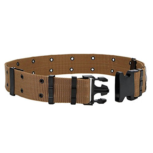 OLEADER Military Pistol Belt Quick Release Combat Belt for Outdoor Hunting Army Survival, Khaki