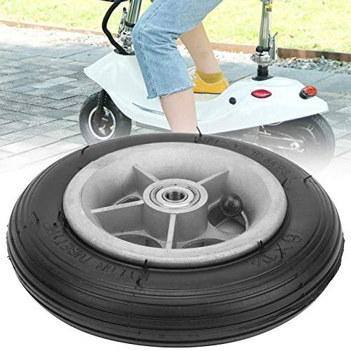 Xndz Inflado de 6 Pulgadas de neumáticos, Antideslizante 6x1 1/4 6 Pulgadas Rueda de Goma Caja Fuerte Accesorios de neumáticos para reemplazo de neumáticos
