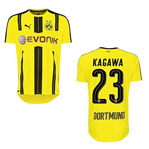 Puma BVB Borussia Dortmund maglia da uomo, stagione 2016/2017–Kagawa 23, XXL