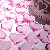 EinsSein 100x Dekosteine Funkelnde Herzen 22mm rosa Dekoration Streudeko Konfetti Tischdeko Hochzeit Diamanten Diamant Glas groß Geburtstag - 2