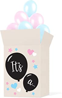 box of balloons gender reveal