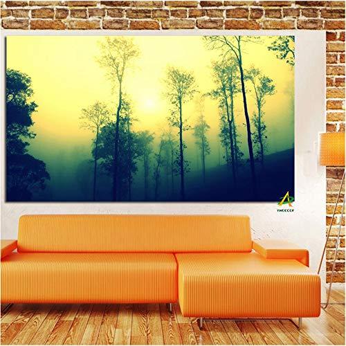 Berg Morgen Leinwand Malerei Kunst Bild Digitaldruck auf Leinwand Wandkunst Modernes Zimmer Living Home Decor Poster 30 X 60CM