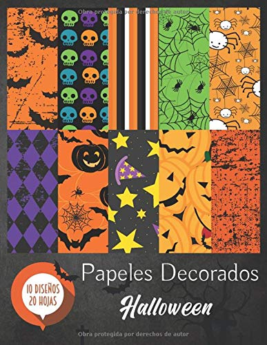 Papeles Decorados - Halloween: Papel Scrapbooking - Folios Decorados - Papel Scrap (Manualidades)