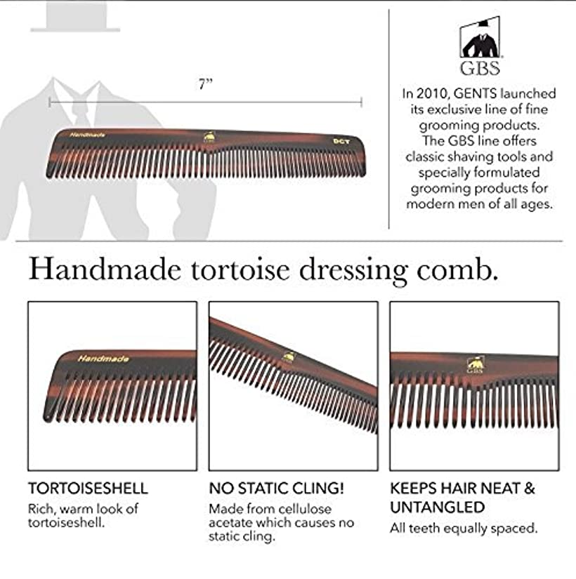 商品関税汗GBS Premium Anti-Static Hand Made Coarse/Fine Toothed Dressing, Grooming, and Styling Comb for Men/Women, 7