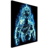 Feeby. Wandbild - 1 Teilig - 70x100 cm, Leinwand Bild Leinwandbilder Bilder Wandbilder Kunstdruck, Barrett Biggers - Anime Blau