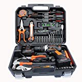 COLMAX Hand Combo Power Tool set 35 pcs, With 16.8V Cordless Drill and Household Repairing Mixed Tools, Daily Use Home Repairing Tool Kit