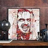MhY One-Panel-Figur Gemälde von Jack Nicholson Leinwand Gemälde Halloween Pop Horror Movie Poster Drucker 30cm_x30cm_No_Frame