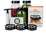 Easy Fermenter Wide Mouth Lid Kit: Simplified Fermenting In Jars Not Crock Pots! Make Sauerkraut,...