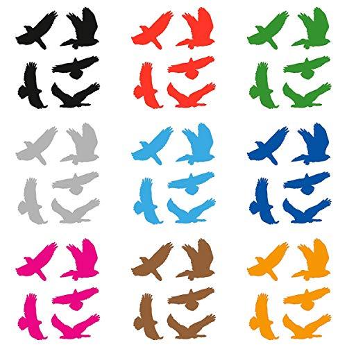 atFoliX Glasdekorfolie Vogelschutz verschiedene Größen und Farben FX-Sticker Aufkleber zum Schutz vor Vogelschlag
