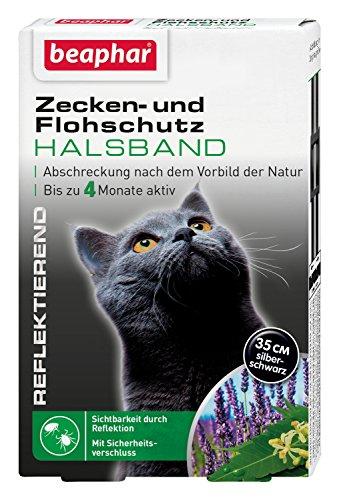 Zecken- & Flohschutz Halsband für Katzen | Zeckenschutz für Katzen | Reflektierendes Halsband gege...