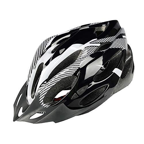 Perfeclan Casco de Bicicleta para Adultos, Casco de Seguridad para Bicicleta de Carretera de montaña para Hombres y Mujeres 21 Rejillas Casco de Choque de - Blanco, Negro,