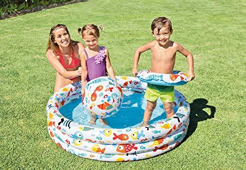Intex-167438 Pool Set Kugel- und Ananas-Rettungsring, mehrfarbig, 132 x 132 x 28 cm, 59469