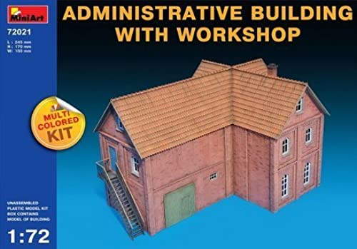 MiniArt Administrative Building with Workshop 1 72 Scale Military Model Kit by MiniArt