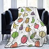 alice-shop Manta de vellón Micro acogedora Ultra Suave de Frutas y Verduras,...