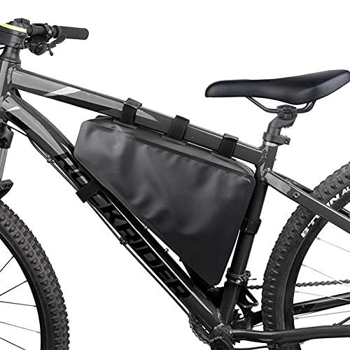 GJMQQ Bolsa de Cuadro de triángulo de Bicicleta, Bolsas de Bicicleta, Kit de Herramientas de reparación de Bicicletas