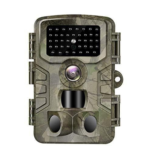 Vanbar Wildkamera 20 MP 1080P Full HD Wildkamera mit Bewegungsmelder Nachtsicht IP66 Wasserdichter und 0,2s Schnelle Trigger Geschwindigkeit Nachtsicht Wildkamera für die Überwachung von Wildtieren