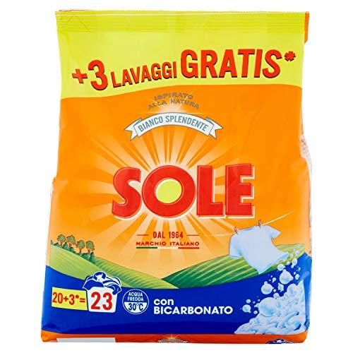 Sole Detersivo Per Lavatrice In Polvere, Bianco Splendente, 23 Misurini - 1440 g
