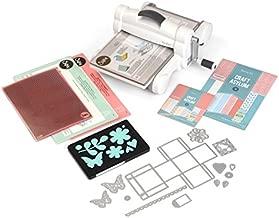 """Sizzix Big Shot Plus Starter Kit 660341 Manual Die Cutting & Embossing Machine for Arts & Crafts, Scrapbooking & Cardmaking, 9"""" Opening"""