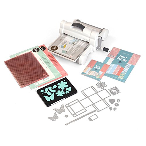 "Sizzix Big Shot Plus Starter Kit 660341 Manual Die Cutting & Embossing Machine for Arts & Crafts, Scrapbooking & Cardmaking, 9"" Opening"