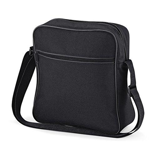 Bagbase Retro Flight Bag Shoulder Bag Black/Graphite