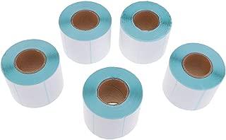 Homyl Rollos de Etiquetas Directas Adecuado para Laboratorio de Química, Material Papel Térmicas - Blanco, 5 Rollos x 700 Piezas 60x40 mm