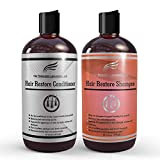 Hair Restoration Laboratories Hair Restore Shampoo and Conditioner Set, DHT Blocker to Prevent Hair Loss, Sulfate Free, Effective Daily Use Hair Thickens Thinning Hair for Men and Women, 2 x 16 oz