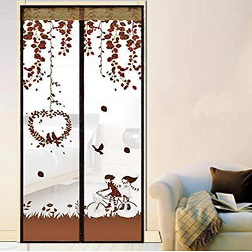 Sommer Stil geschlossenes Netz Moskitonetz Cartoon Fenster Bildschirm Fenstervorhang Anti-Moskito magnetischen Tüll Duschvorhang Tür Verschlüsselung Mesh Bildschirm Fenster A2 B110xH210