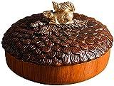 Frutero Chino Snack Platter Nut Sirviendo Plato de plato Taza de café Mesa de centro con tapa de caramelo Bandeja Caja de la casa Caja de frutas secas creativas Caja Multifunción Snack Snack Contenedo
