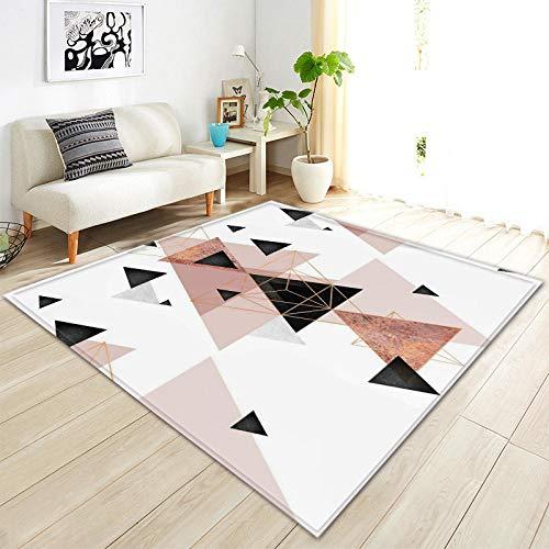 CURTAINSCSR Teppich Dreieck, Weiß 200x300 cm Weicher Kurzflor rutschfest Teppich fürs Wohnzimmer, Kinderzimmer, Schlafzimmer und die…