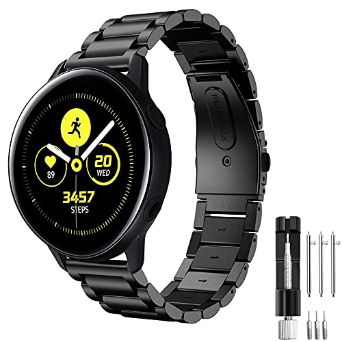 Cinturino per Samsung Galaxy Watch Active/Active 2 40mm 44mm, Hatolove 20mm Cinturino in Acciaio Inossidabile in Metallo Cinturino per Samsung Gear Sport/Gear S2 Classic/Amazfit GTR 42mm/Amazfit GTS