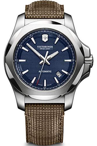 Victorinox INOX Herren Uhr analog Automatik mit Leder Armband V241834