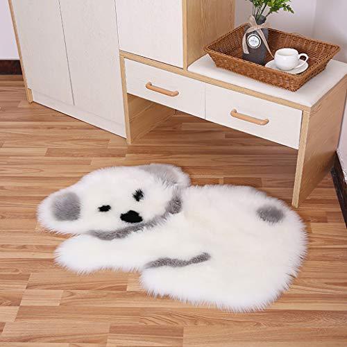 m·kvfa Soft Fuzzy Fur Rugs Cartoon Koala Carpet Faux Wool Plush Floor Mat Hanging Area Rugs for Living Room Bedroom Sofa Bedside