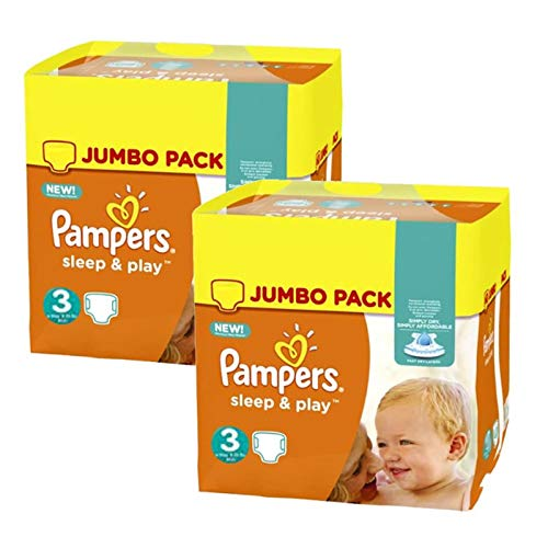 Couches Pampers - Taille 3 sleep & play - 410 couches bébé