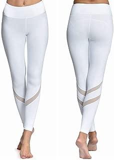 LOVESOFT Mesh Yoga Pants for Women, Tummy Control Yoga Leggings, 4 Way Stretch and Non See-Through