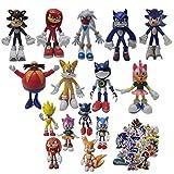 Juguetes Sonic Sonic Shadow Sonic Figuras Juguetes Figura de acción Juguete Sonic Amy Tails Mephiles...