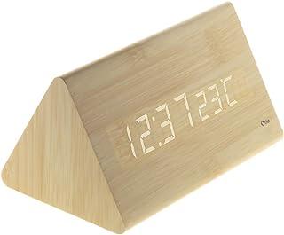 Thermomètre prisme finition effet pin naturel - Otio