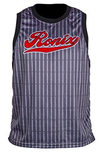 Ronix 812 Backseat - Quick Dry Tank - Grey / Black Pinstripe (MEDIUM)