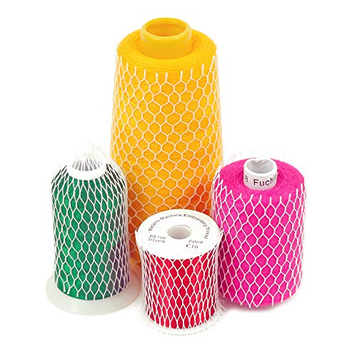 10 Yards of Thread Net Spool Saver for Sewing Embroidery Machine Mess/Tangle Free Spools Prevents Unwinding Perfect for Small/Large Cones
