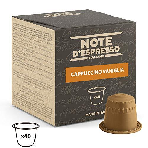 Note D\'Espresso - Cápsulas de capuchino de vainilla instantáneo, 6,5g (caja de 40 unidades) Exclusivamente Compatible con cafeteras Nespresso*